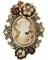 Femme Broche Pin Beauté Rétro Vintage Mode Multicolore #2