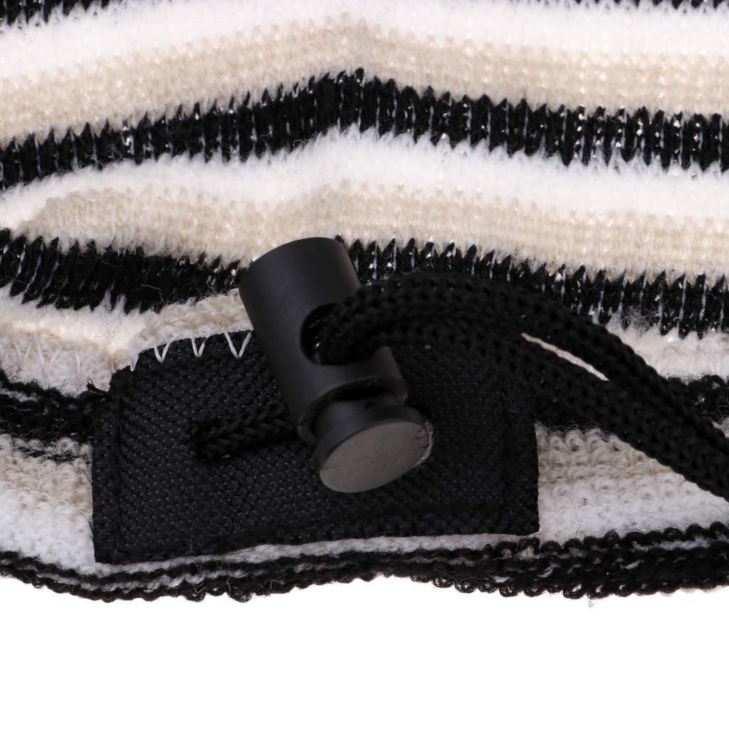 Marr/ón Negro Dise/ño Moderno con Rayas de Blanco F Fityle Cubierta para Tablas de Surf a Velas
