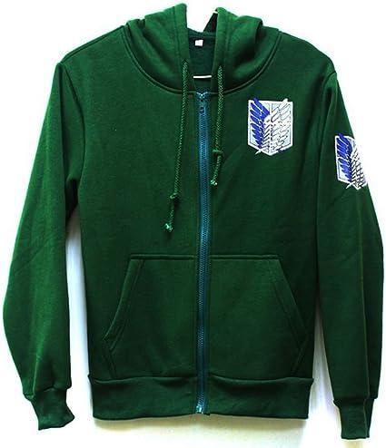 Zhuchao Attack on Titan Kapuzenpullover Jacke Scout Legion Zipper Hoodie Wings of Liberty Gemustertes Cosplay Kost/üm Anime Beil/äufig Vlies Hooded Sweatshirt