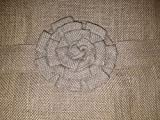 french door country curtains - Primitive Country Burlap Rose and Ruffle French Door Panel Curtain