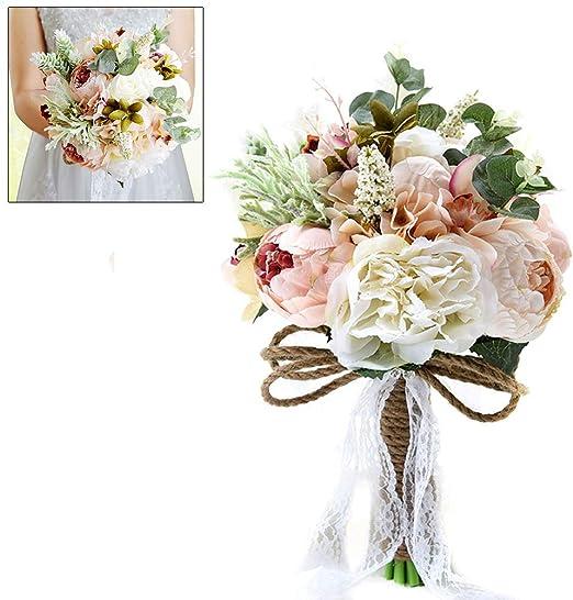 Amazon Com Pysod Romantic Wedding Bridal Bouquet Bridal Bouquets