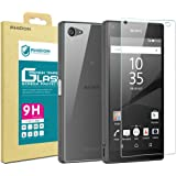 (Front + Back) Rhidon Sony Xperia Z5 Compact Tempered Glass Screen Protectors Anti Fingerprint Bubble Free Shatterproof Shockproof HD Protective Skin Film for Sony Xperia Z5 Mini
