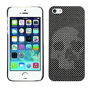 "For Apple iPhone 5 / 5S Case , Cráneo Raster Imprimir Arte Negro Vignette"" - Diseño Patrón Teléfono Caso Cubierta Case Bumper Duro Protección Case Cover Funda"