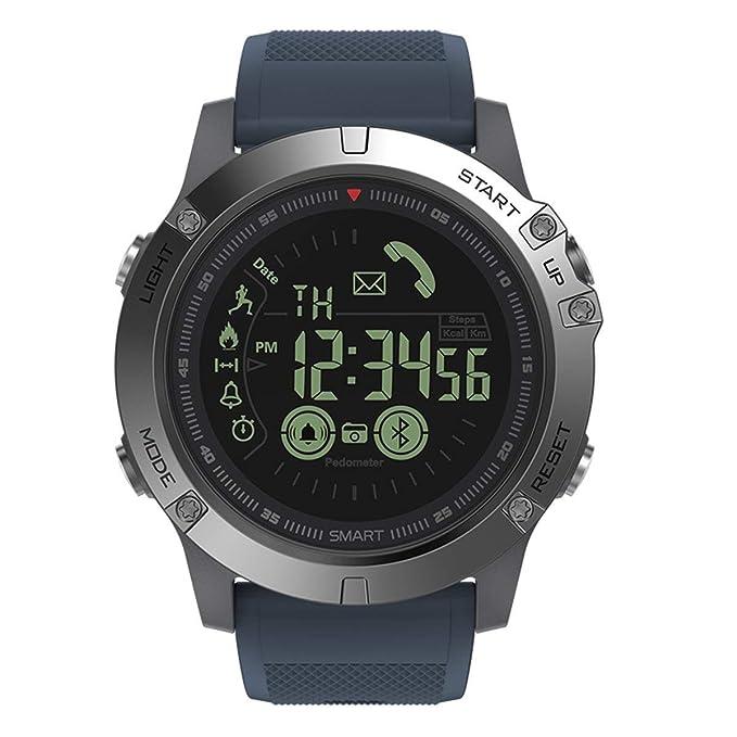 Reloj Digital Inteligente Reloj Deportivo al Aire Libre para Hombres con podómetro Calorías Contador Distancia Cronómetro Reloj Alarma Notificación ...