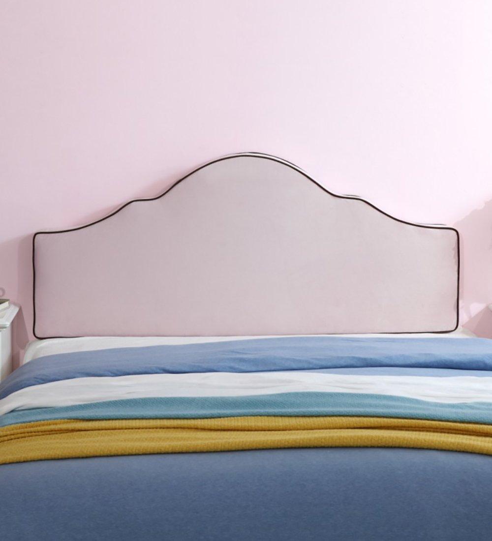 Djyyh フラットヘッドボードクッションピロースポンジは、シングル、ダブルサイズ/ベッドヘッドボード装飾、3色、5サイズ対応 (色 : ピンク, サイズ さいず : 165*8*65CM) B07RKSRYF6 ピンク 165*8*65CM