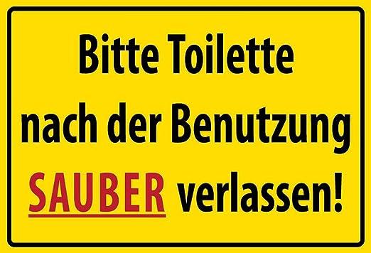 BlechschilderWelt Cartel de Chapa con Texto en alemán Bitte ...