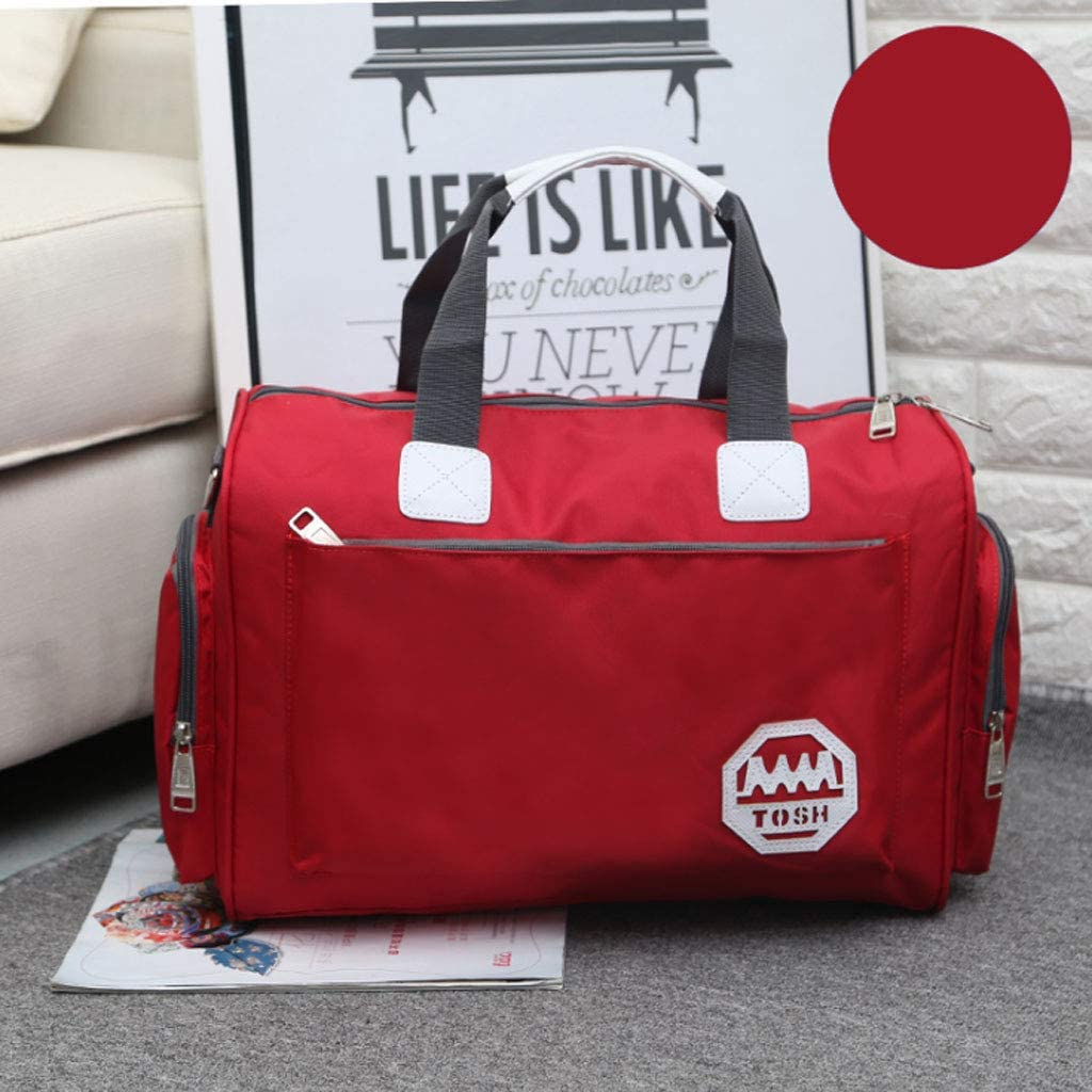 Luggage Bag Waterproof Travel Bag 7 Colors Color : Red ZDD Large-capacity Travel Bag Clothes Bag