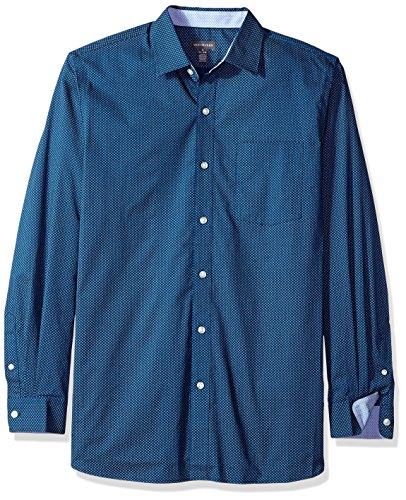 Free Shirt Van Wrinkle Heusen (Van Heusen Men's Wrinkle Free Non Iron Long Sleeve Shirt, Estate Blue, Large)