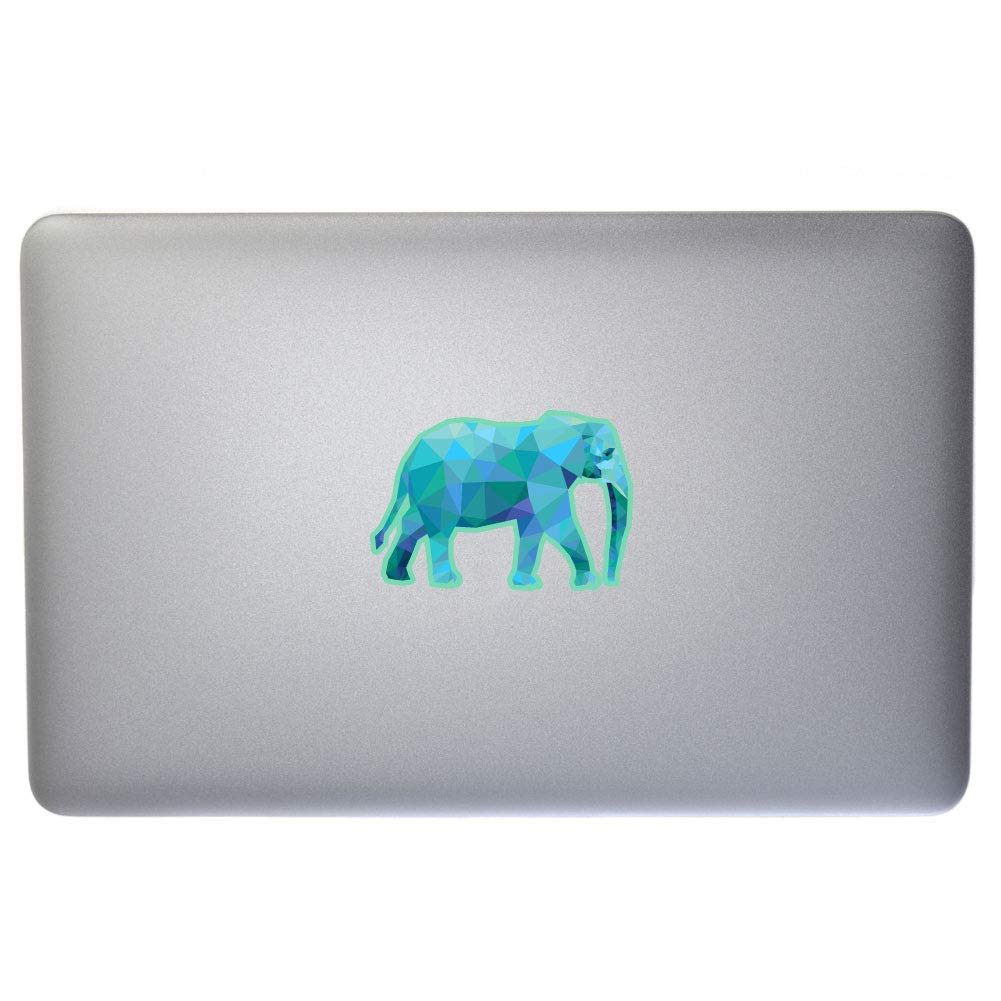 Dark Spark Decals Low Poly Geometric Elephant Windows D/écor and More 5 Inch Full Color Vinyl Decal for Indoor or Outdoor use Laptops Cars