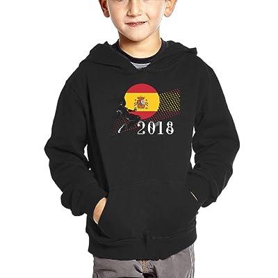 2018 Play Football Spain Unisex Baby Boys Pullover Hoodies Long Sleeve Sweatshirts with Big Pockets