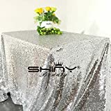 60x160-Inch Gold/Silver/Green/Transparent White Sequin Tablecloth Beautiful Sequin Table Cloth / Overlay /Cover For Event Decoration(1.5M X 4M)