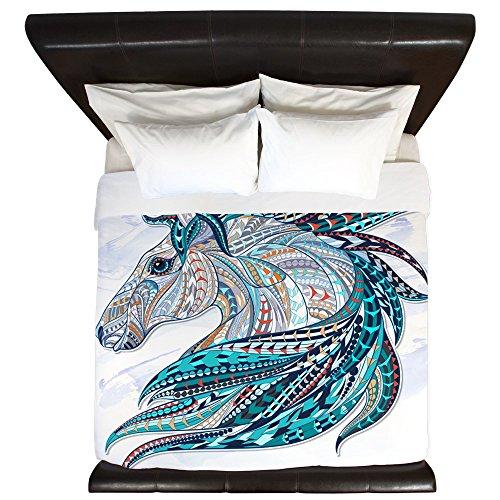 King Duvet Cover Maverick Patterned Horse -