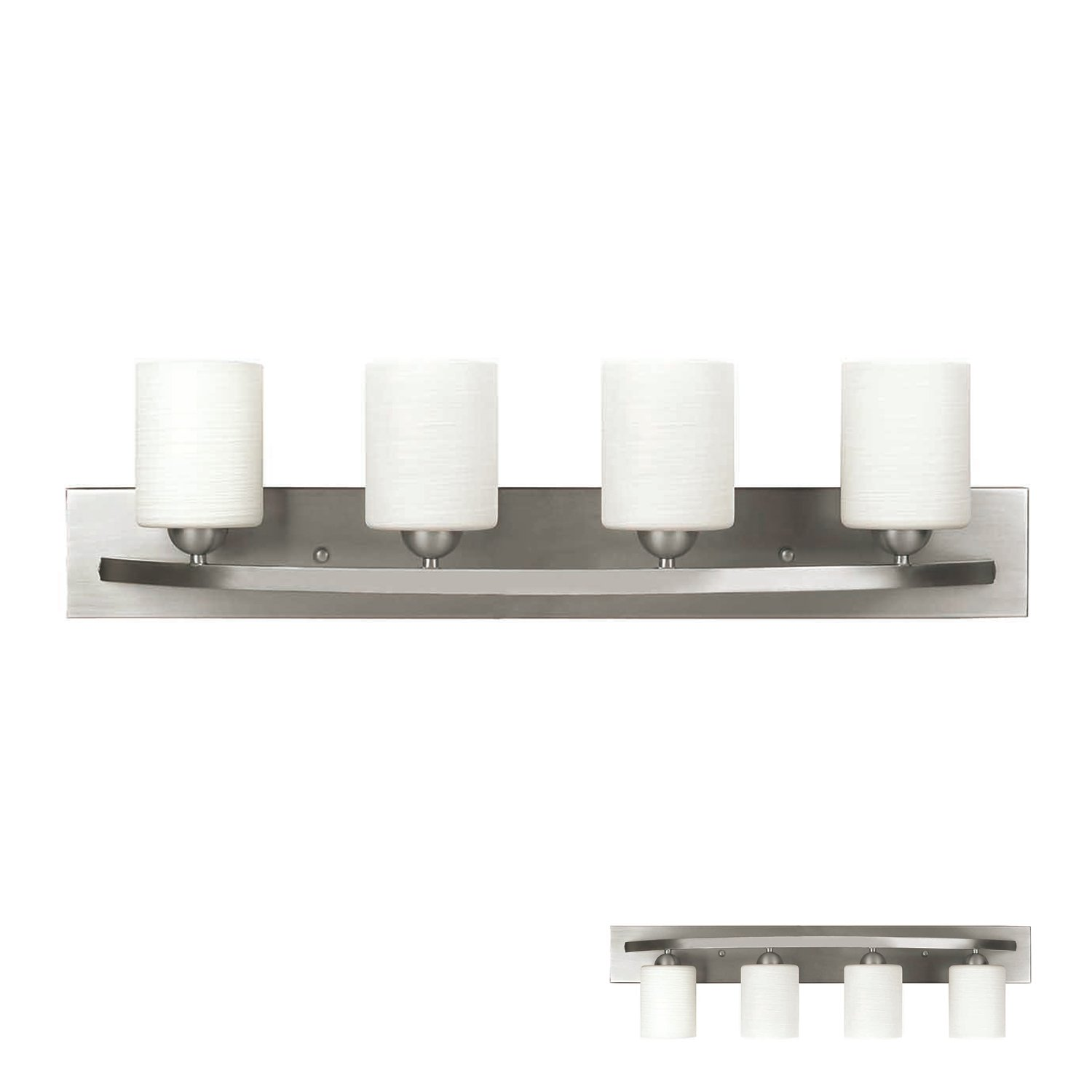Bathroom vanity lights brushed nickel - Brushed Nickel 4 Globe Vanity Bath Light Bar Interior Lighting Fixture