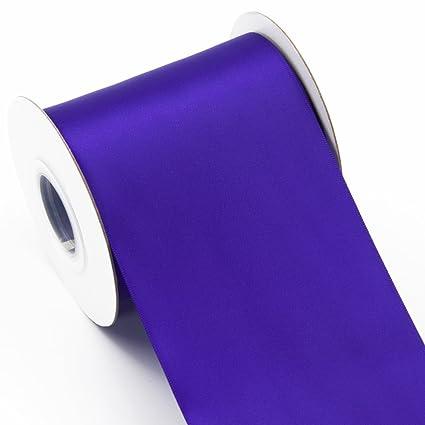 Amazon Com 19 5 Yards 4 Inch Fabric Satin Ribbon Roll Double Face