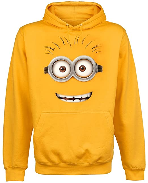 Gru 2, mi villano favorito - sudadera con capucha de minion de ojos saltones - algodón - amarilla - XL: Amazon.es: Ropa y accesorios