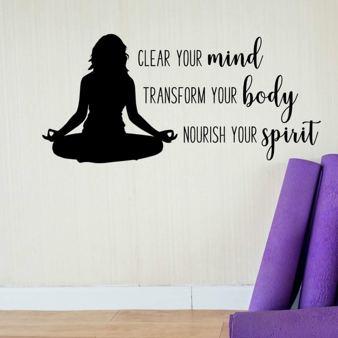Amazon.com: Yoga Studio Wall Decal, Yoga Inspirational Gifts ...