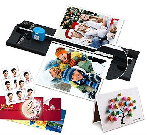 SHUOGOU A4 Paper Trimmer/Photo Cutter with Straight Perforation and Wave 3 Cutting Style - One Additional Cutting Mat Strip, Photos Or Labels by SHUOGOU (Image #6)