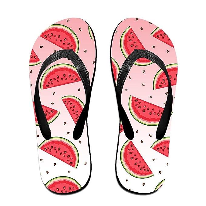 Watermelon Mens and Womens Light Weight Shock Proof Summer Beach Slippers Flip Flops Sandals