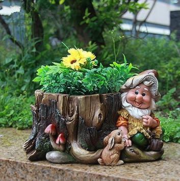 Design nain 15198 avec pot fleur 16 cm de haute décoration jardin ...