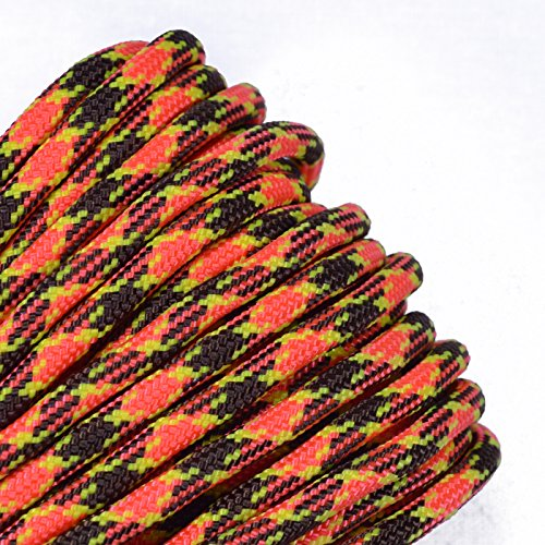 (Bored Paracord - 1', 10', 25', 50', 100' Hanks & 250', 1000' Spools of Parachute 550 Cord Type III 7 Strand Paracord Well Over 300 Colors - Morning Wood - 50 Feet)
