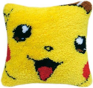 Cushion Carpet Mat Latch Hook Rug Kits Cover Hand Craft Embroidery DIY Pillowcase Crocheting Handmade Baby,Kits Weeding and Parents Gift Dog