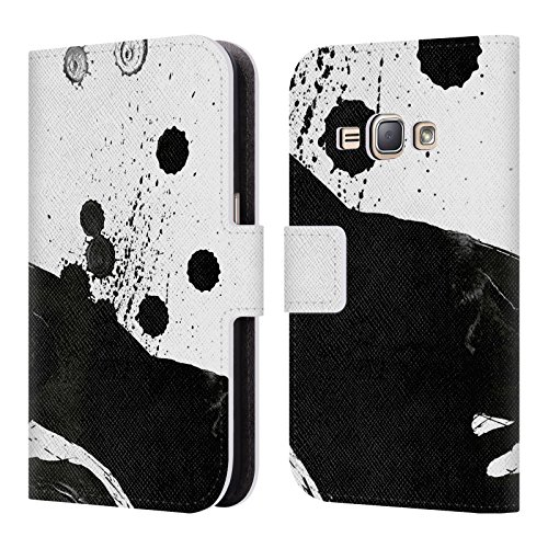 Price comparison product image Official Demian Dressler Anti Anti Series Memento Mori Leather Book Wallet Case Cover For Samsung Galaxy J1 (2016)