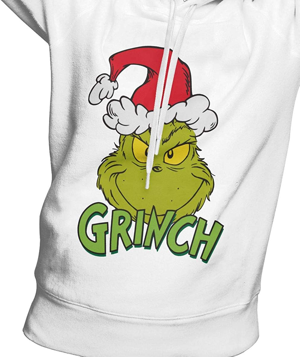 SUNBO Grinch Women Hoodie Sweatshirt White