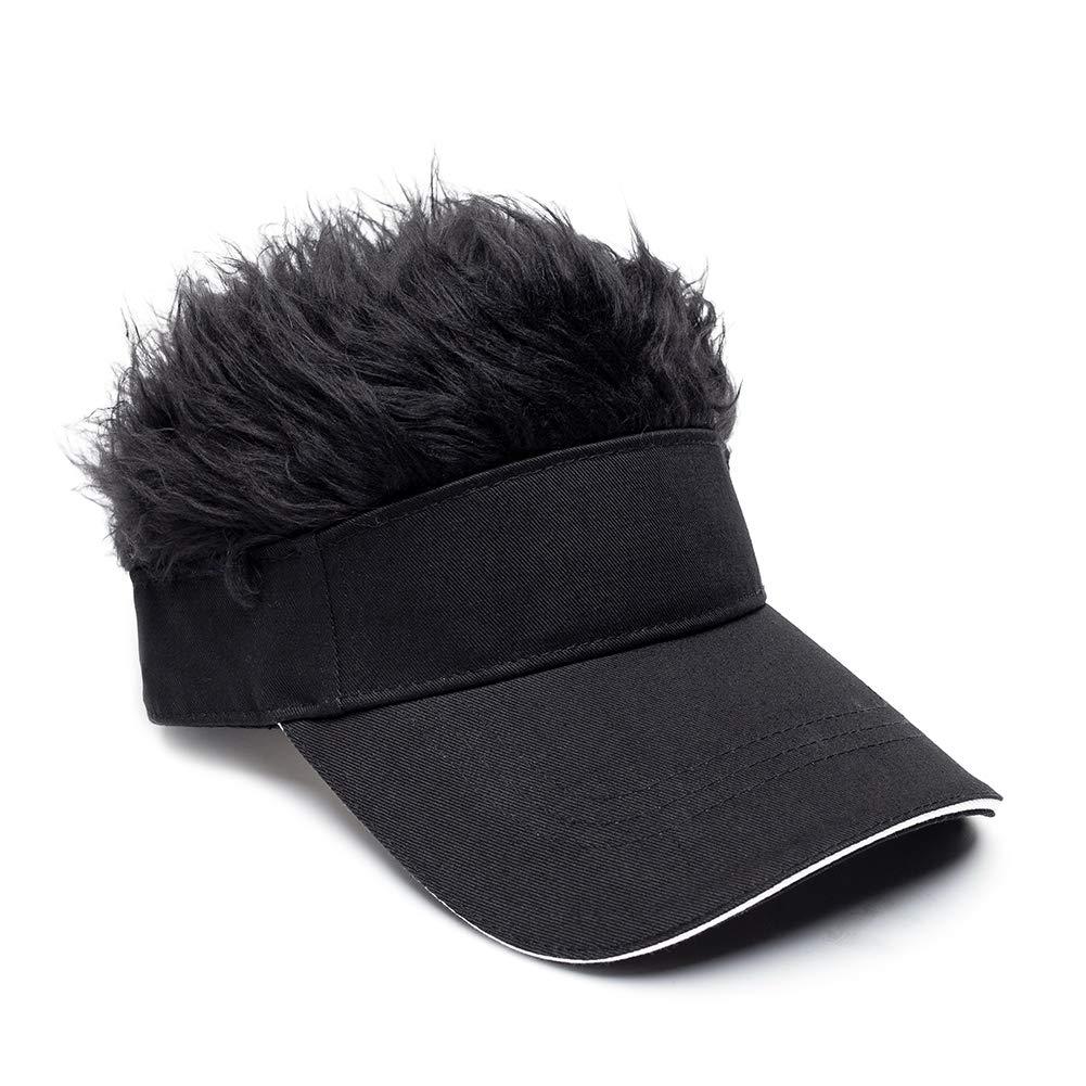 f538681f8b9 ... OBERORA Novelty Sun Visor Cap Wig Peaked Adjustable Baseball Hat Spiked  Hair