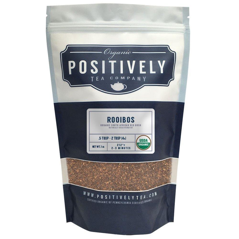 Positively Tea Company, Organic South African Rooibos, Rooibos Tea, Loose Leaf, USDA Organic, 1 Pound Bag