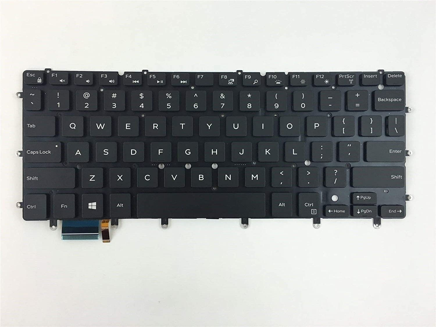 New Laptop Backlit Keyboard (Without Frame) Replacement for Dell Inspiron 13 7347 13 7348 7352 7353 7359 15 7547 15 7548 XPS 13 9343 9350 0DKDXH DKDXH NSK-LS0BW 01 US Layout Black Color