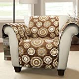 Lush Decor Cleo Arm Chair Furniture Protector, Armchair, Brown