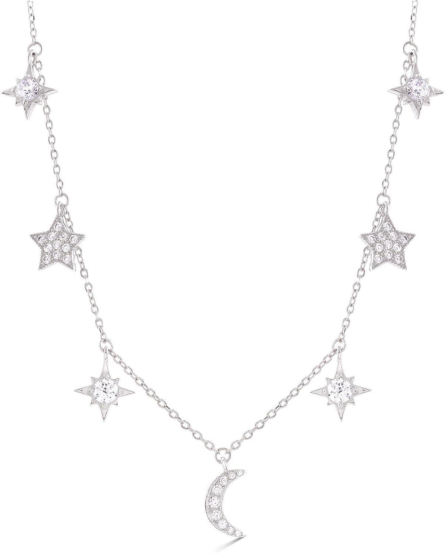 LUXENTER Collar Mysnight en Plata y circonita Brillante