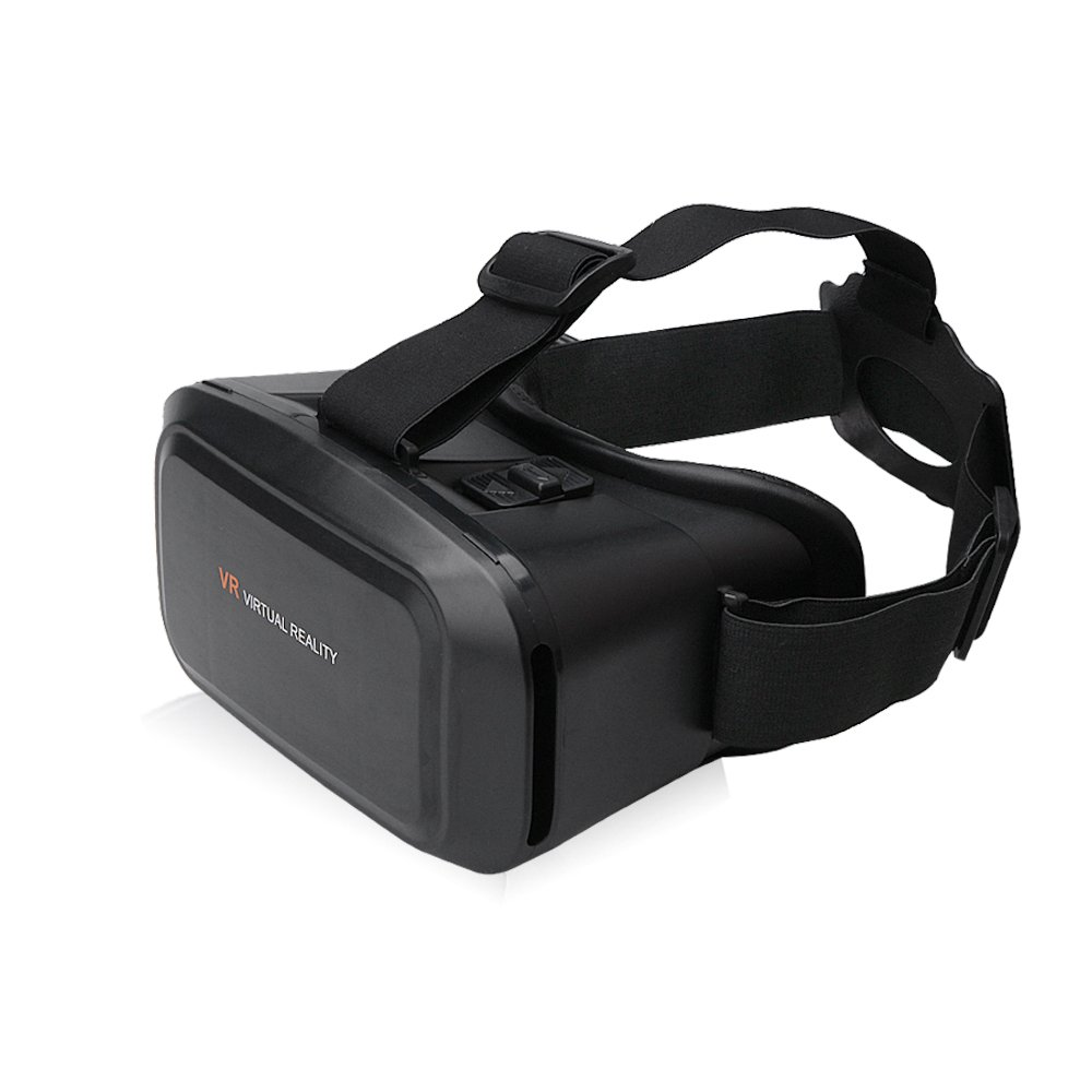 VR Headset, VR 3D Glasses, AiiKo VR Goggles Box Virtual Reality Glasses for 3D Video Movies Games 360? Video with Magnetic Trigger for iPhone 6 / 7 Plus Samsung Nexus HTC Laptops of 3.5-6.0'' Screens