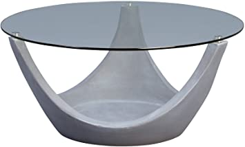 Hometrends4you Mogul 2 Couchtisch Glas Grau 80 X 80 X 35 Cm