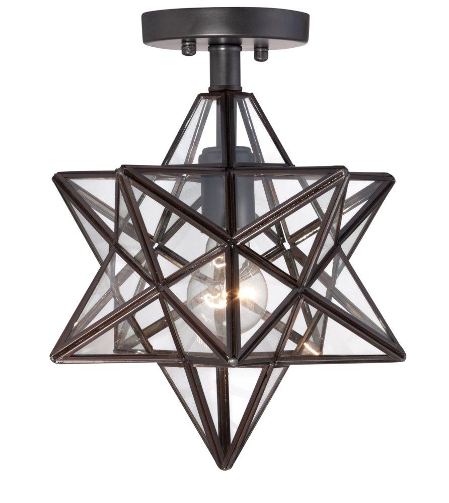 Cuthbert clear glass 11 wide black iron star ceiling light cuthbert clear glass 11 wide black iron star ceiling light amazon aloadofball Images