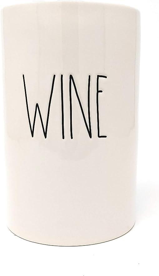 Amazon Com Rae Dunn By Magenta Wine Bottle Chiller Beige Black Ll Kitchen Dining