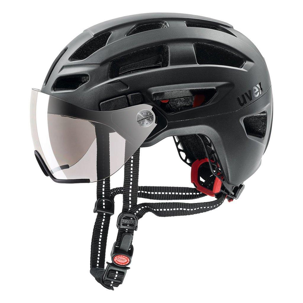 uvex(ウベックス) ヘルメット finale visor ドイツ製 バイザー付き 4107530317 ブラックマット 56-61cm   B075MG5QSB