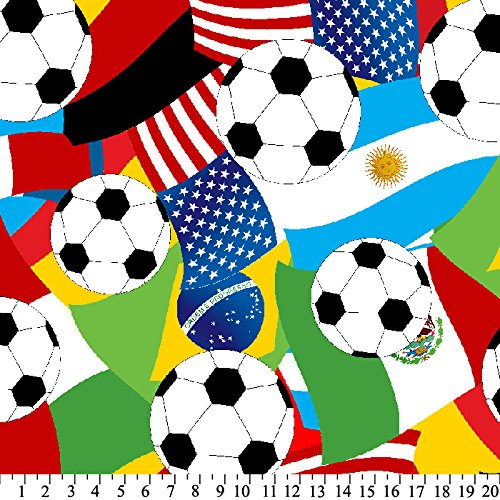 Soccer World Cup Sports Fleece Throw Blanket with Finished Edges