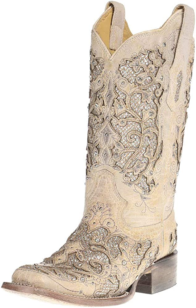 black glitter cowgirl boots