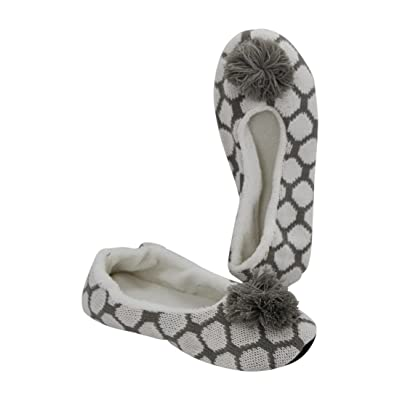 Midwest CBK Woman's Slipper With Grey Poms