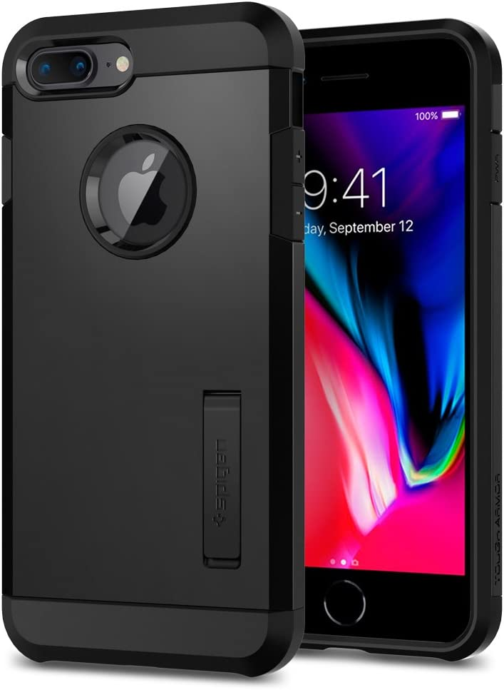 Spigen Funda Tough Armor Compatible con Apple iPhone 7 Plus/8 Plus, Doble Capa y Protección Extrema contra caídas - Negro
