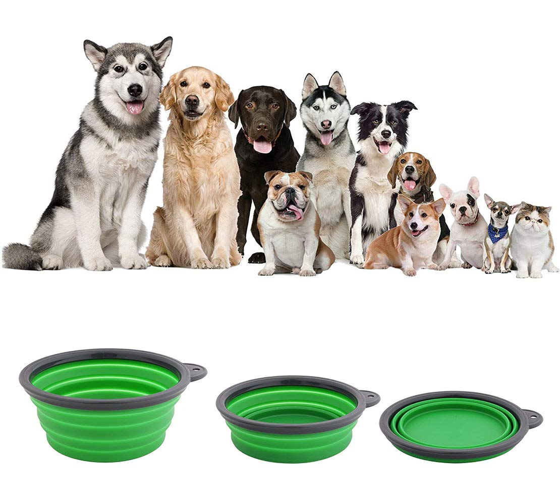 liansheng Folding Dog Bowl Pet Mat Silicone Mat Non-Slip Out of Pocket Waterproof Pet Food Mats Tray by liansheng (Image #2)