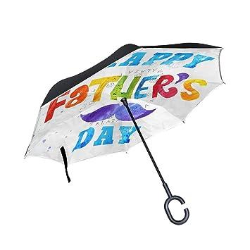 Amazon.com: Paraguas Inverso Marvellous Fathers Day Papel ...