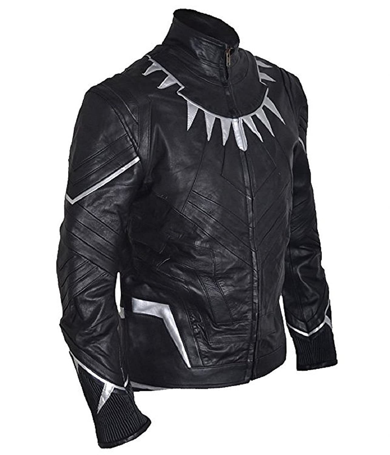 Captain America: Civil War Men's Black Panther Sheepskin Leather Jacket - DeluxeAdultCostumes.com