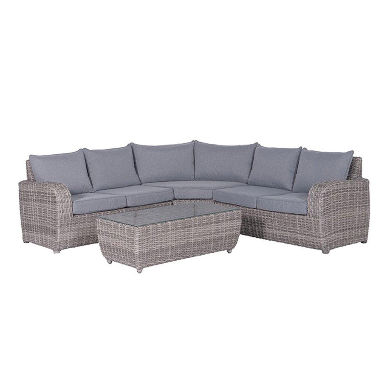 Gartenlounge OUTLIV. Buffalo Loungeset 4-tlg Geflecht Organic-Grey 700016-794610