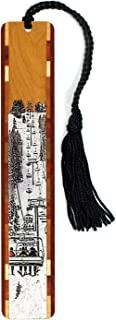 product image for Personalized Snow Day, Ski Lift - Wooden Bookmark with Tassel - Search B0173R62OA for Non-Personalized Version