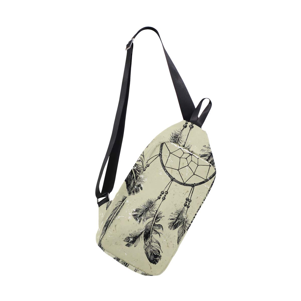 Unisex Messenger Bag Dream Catchers Feather Shoulder Chest Cross Body Backpack Bag