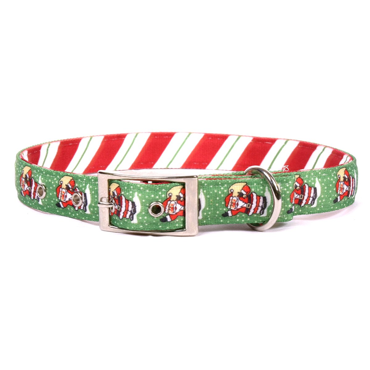 Yellow Dog Design Santa Claus Uptown Dog Collar-Size Medium-1 inch Wide and fits Neck Sizes 15 to 18.5 inches