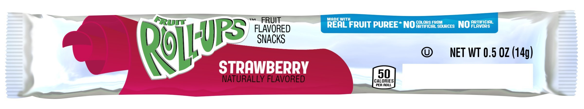 Fruit Roll Ups Strawberry Reduced Sugar, 0.5-Ounce Packets (Pack of 96)