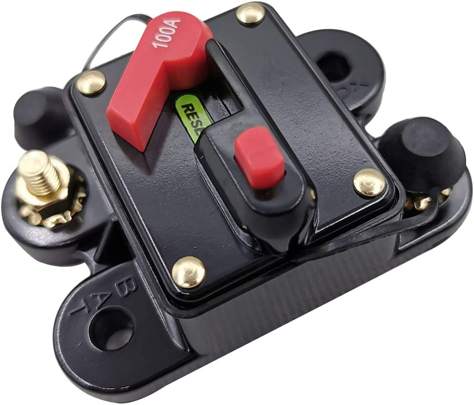 Tickas Mini Size Circuit Breaker,Mini Size Lightweight Portable Automatic Car Circuit Breaker 12V-24V DC Thermal Circuit Breakers Easy Installation Device